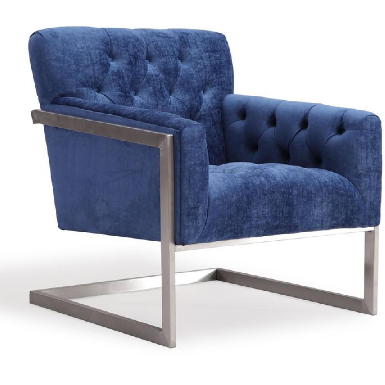 TOV Moya Navy Velvet Chair