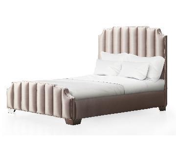 TOV Natalie Beige Linen Queen Bed