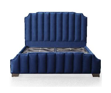 TOV Natalie Navy Velvet Queen Bed
