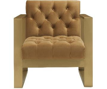 TOV Oliver Cognac Velvet Chair