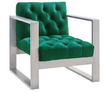 TOV Oliver Green Velvet Chair