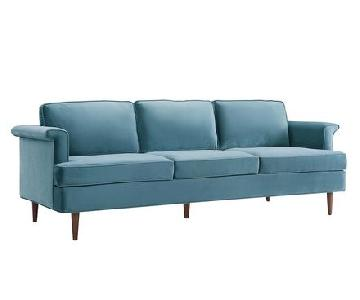 TOV Porter Sea Blue Sofa