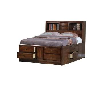 Coaster King Bookcase Bed w/ Underbed Storage Drawers
