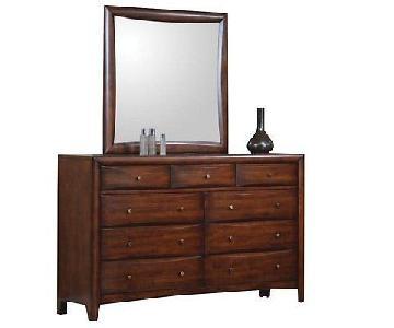 Coaster Fine Furniture 9 Drawer Dresser w/ Mirror