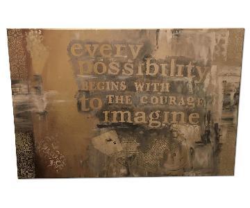 HomeGoods Inspirational Wall Art