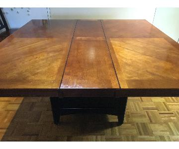 Raymour & Flanigan Extendable Wood Dining Table w/ Storage