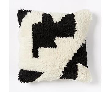 West Elm Roar + Rabbit Graphic Puzzle Pillow Cover in Black