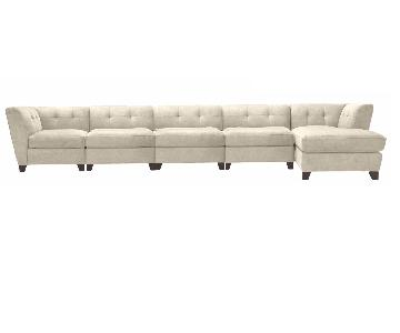Raymour & Flanigan 5 Piece Sectional w/ Chaise
