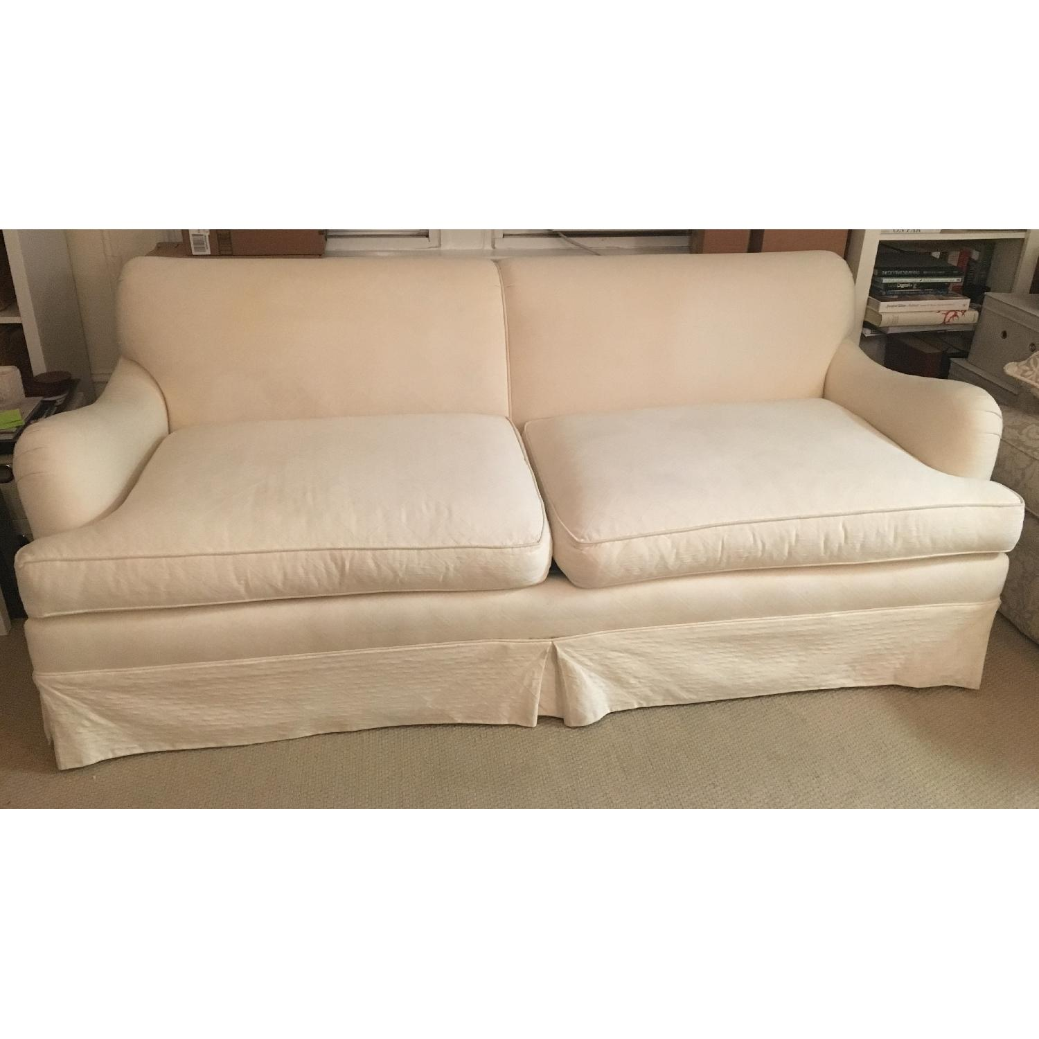ABC Carpet And Home 2 Seater English Roll Arm Sofa