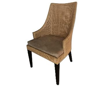 Crate & Barrel Wicker Accent Chair