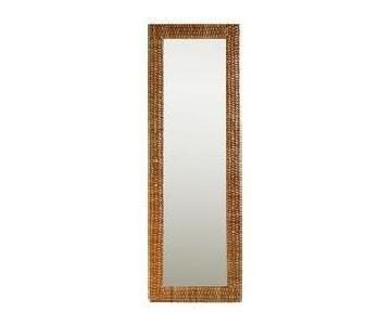West Elm Woven Floor Mirror
