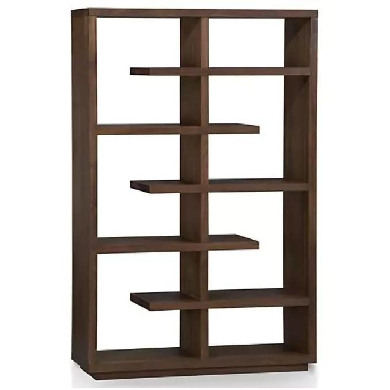 Crate & Barrel Elevate Walnut Bookcase