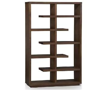 Crate & Barrel Elevate Walnut Bookcase