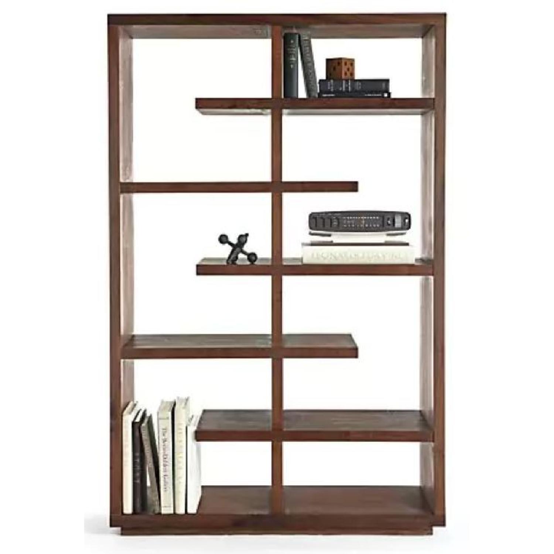 Crate & Barrel Elevate Walnut Bookcase-0