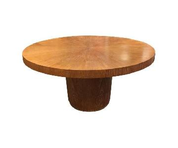 Crate & Barrel Nova Round Dining Table