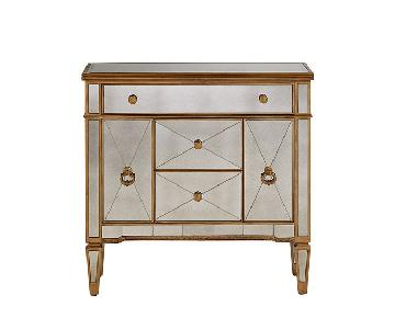 Horchow Amelie Mirrored Five Drawer Chest