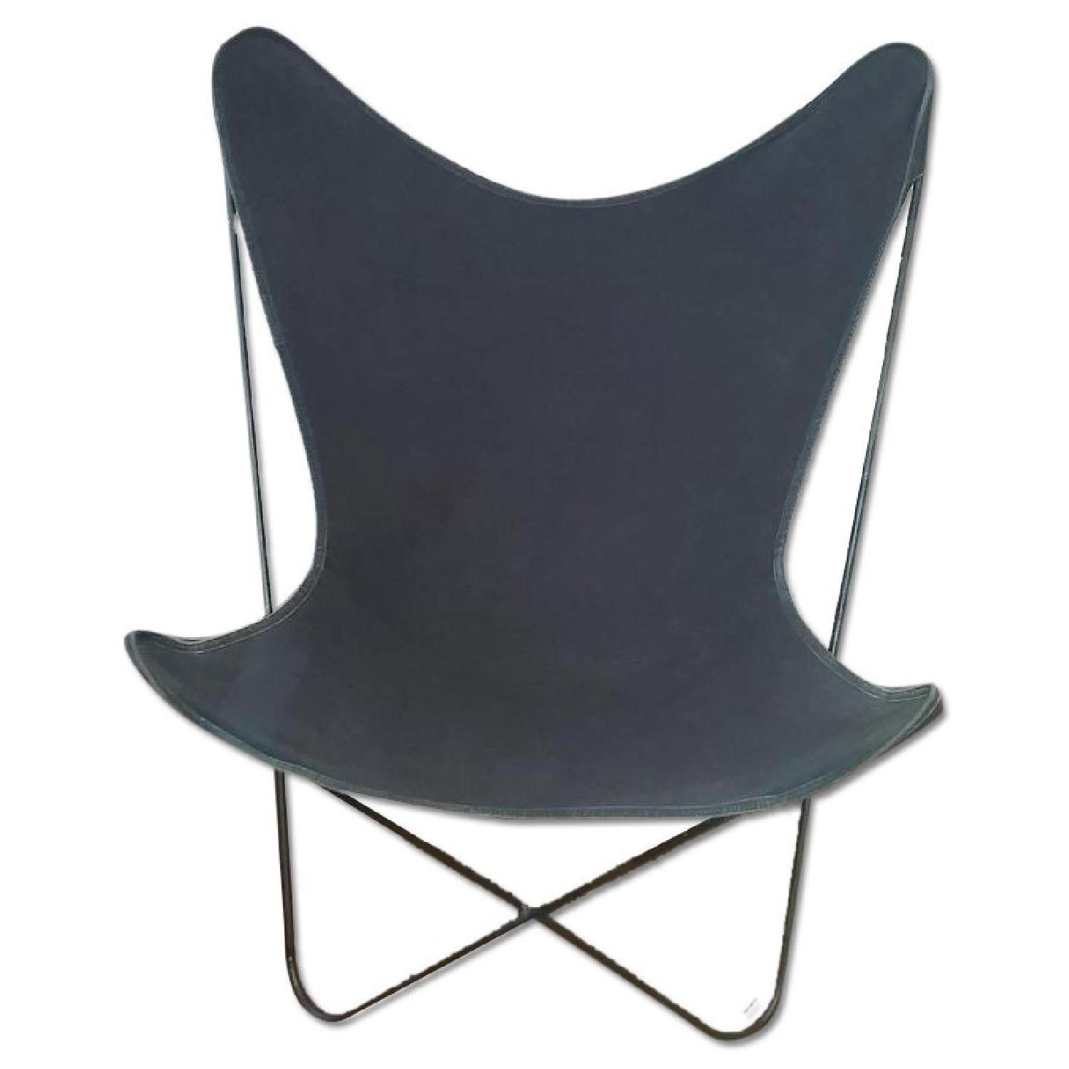 Vintage Wrought Iron Butterfly Chair