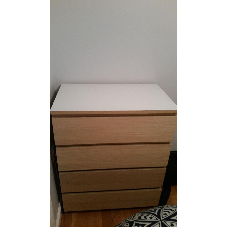 Ikea Malm 4 Drawer Dresser With Glass Top Aptdeco