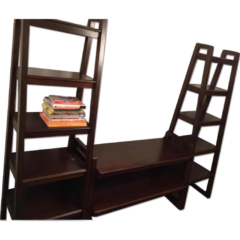 Macy's Media Storage Furniture Set/Bookshelves - image-0