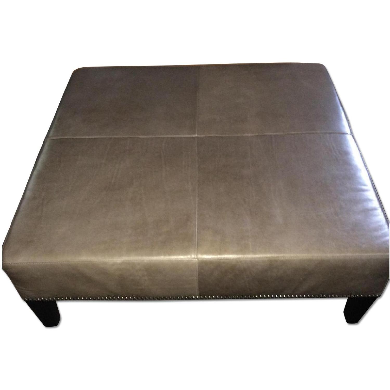 Macy S Grey Leather Ottoman Coffee Table Aptdeco
