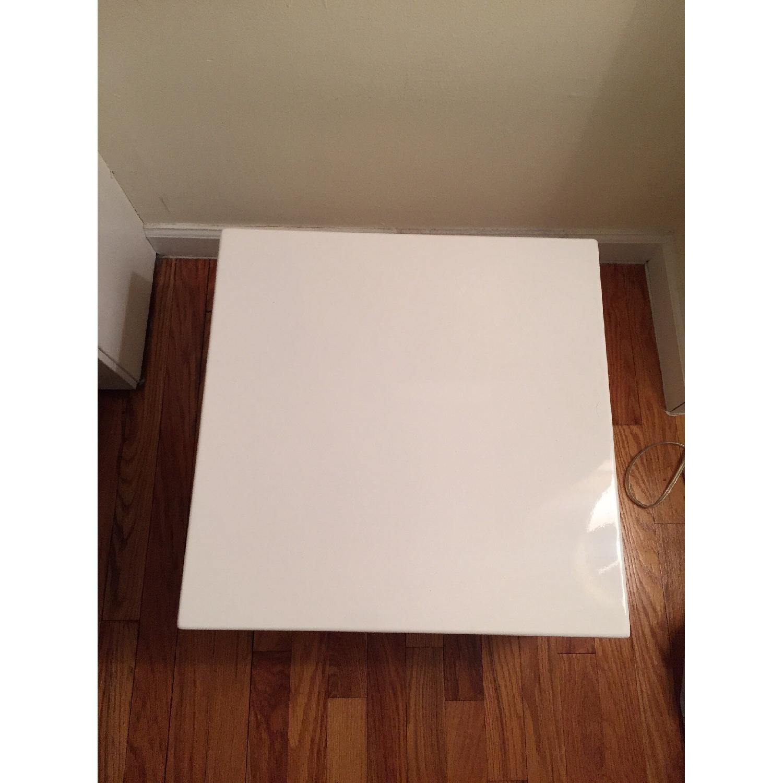CB2 City Slicker White Side Table - image-2