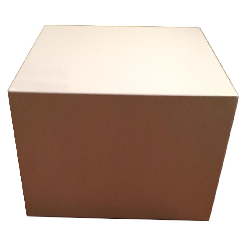 CB2 City Slicker White Side Table - image-0
