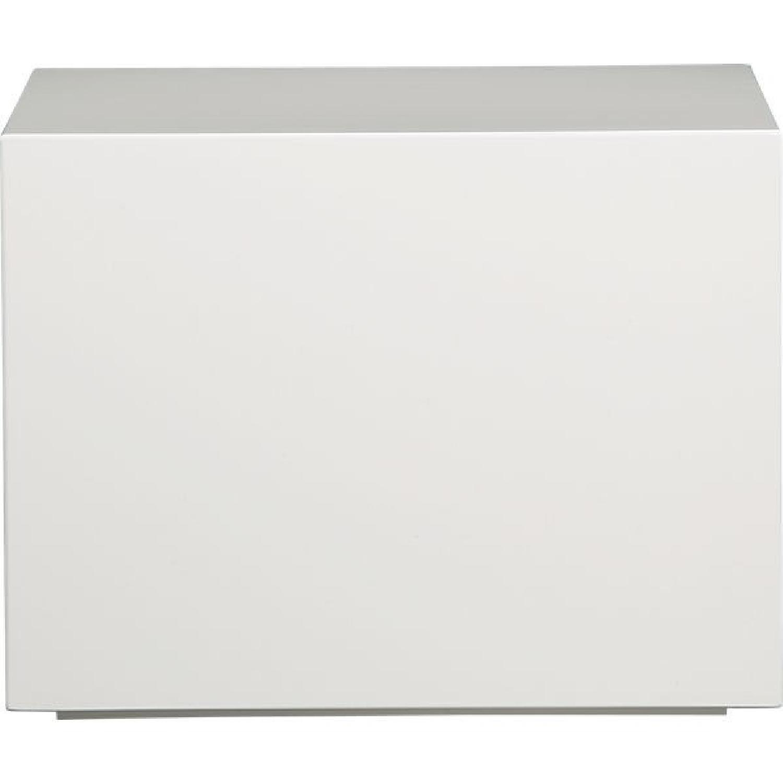 CB2 City Slicker White Side Table - image-3