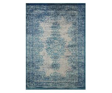 nuLOOM Oriental Over-Dyed Style Turquoise Rug