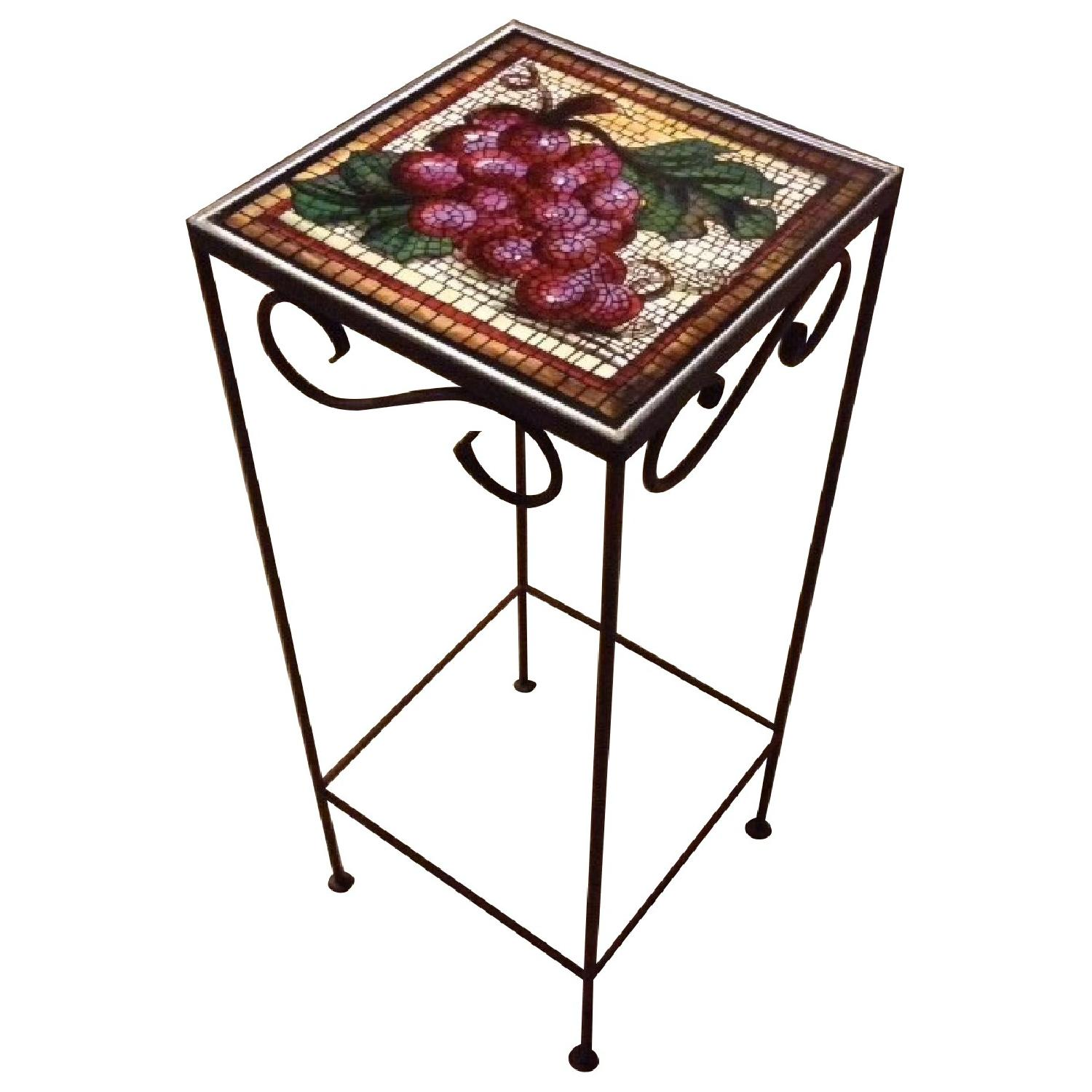 Tuscan Tile Accent Table - image-0