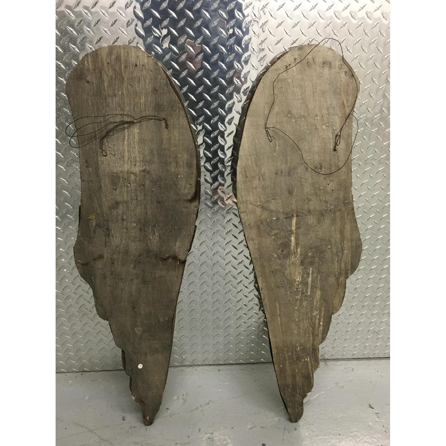 Hand Carved & Painted Wooden Angel Wings - Pair - image-4