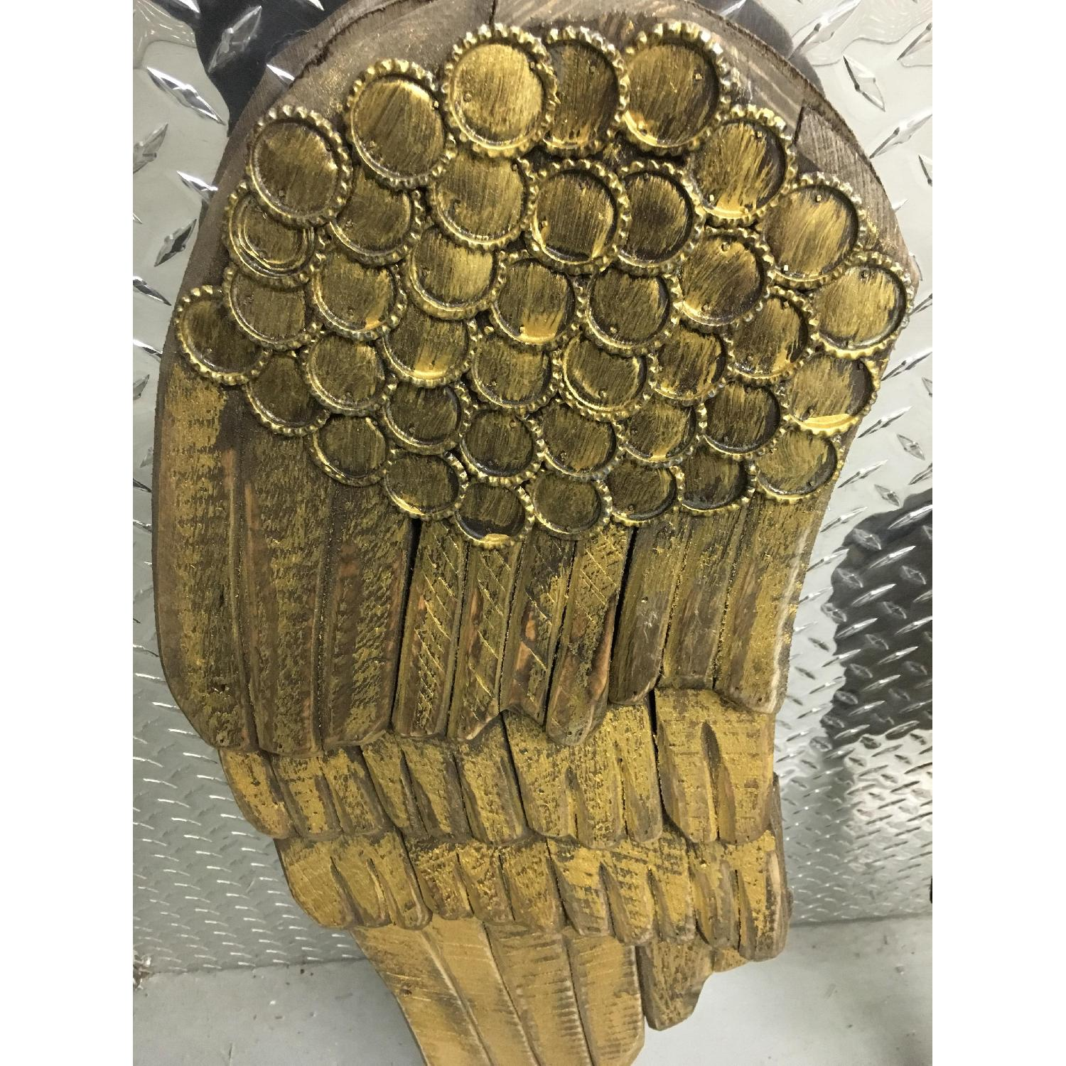 Hand Carved & Painted Wooden Angel Wings - Pair - image-6