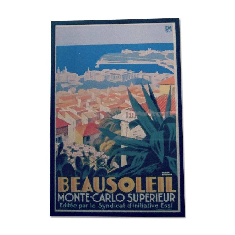 Vintage Monaco Monte Carlo Wall Art - image-0