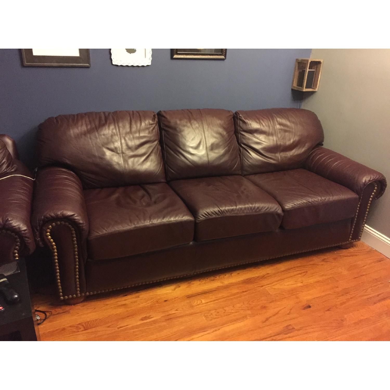 Thomasville Leather Sofa For Sale On Aptdeco