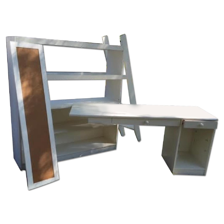 Pottery Barn Sleep Study Full Size Loft Bed Desk Aptdeco