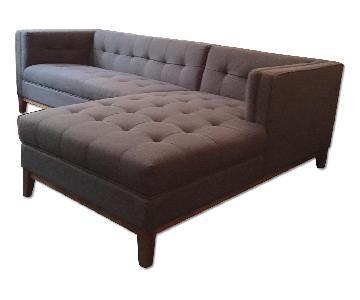 Gus Modern Sectional Sofa with Right-Side Chaise