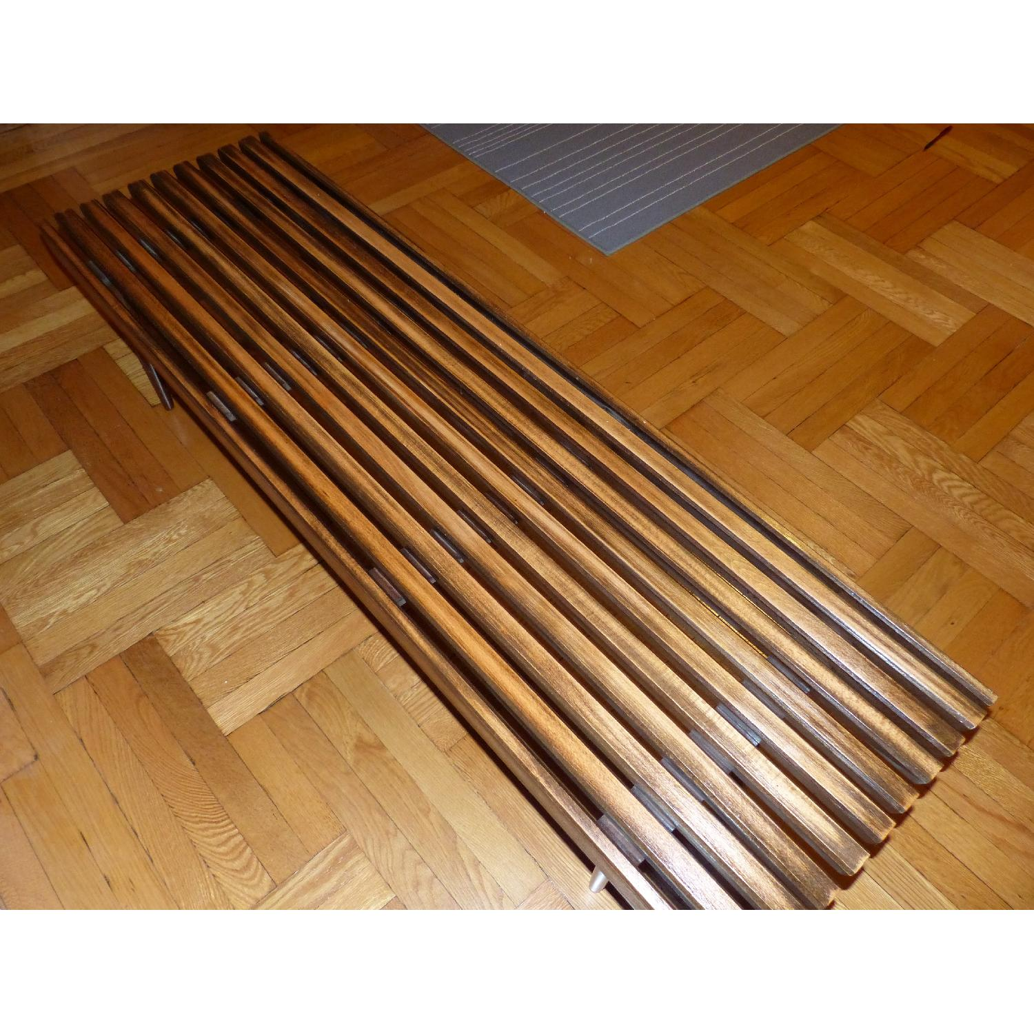 Mid-Century Danish Slat Coffee Table/Bench - image-2