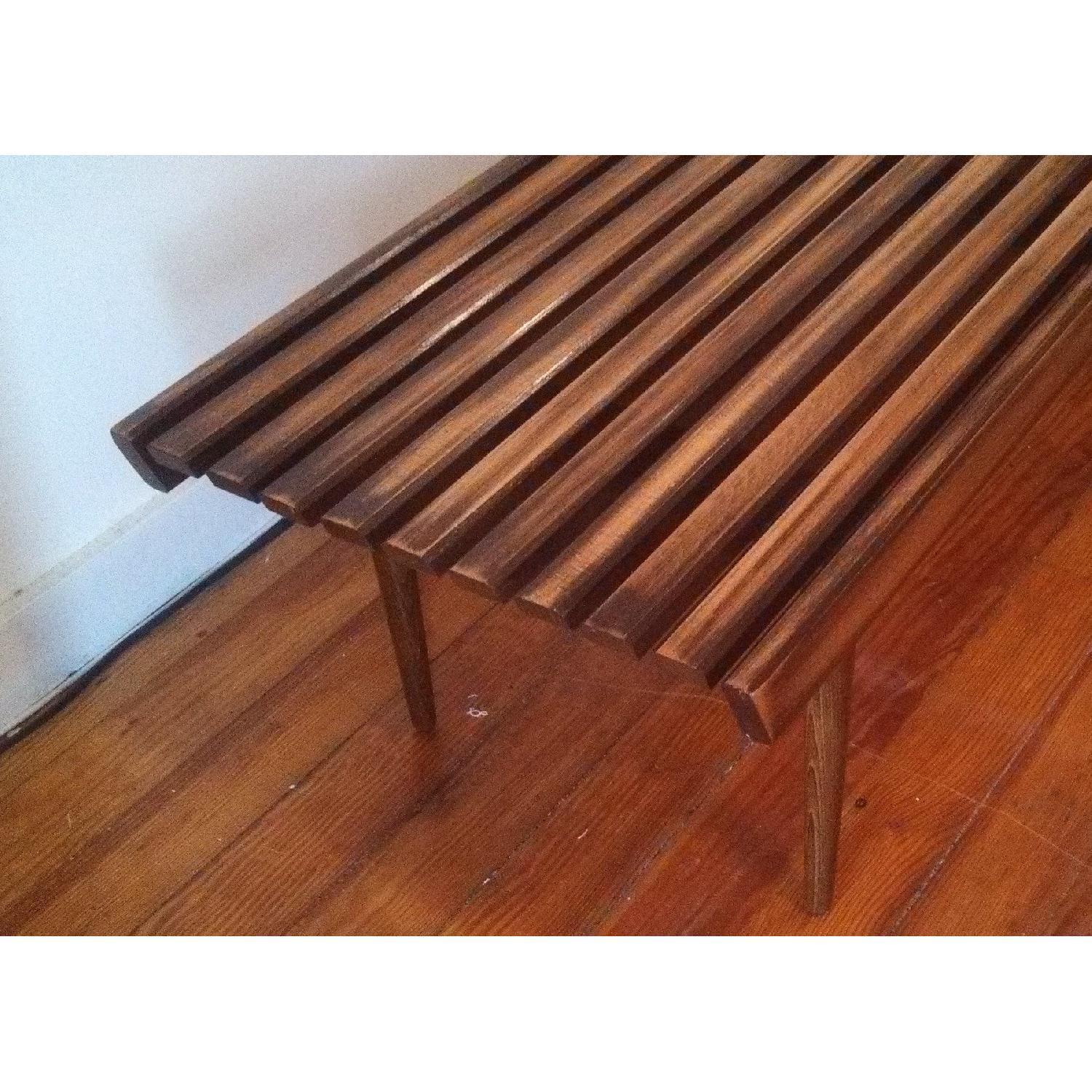 Mid-Century Danish Slat Coffee Table/Bench - image-3
