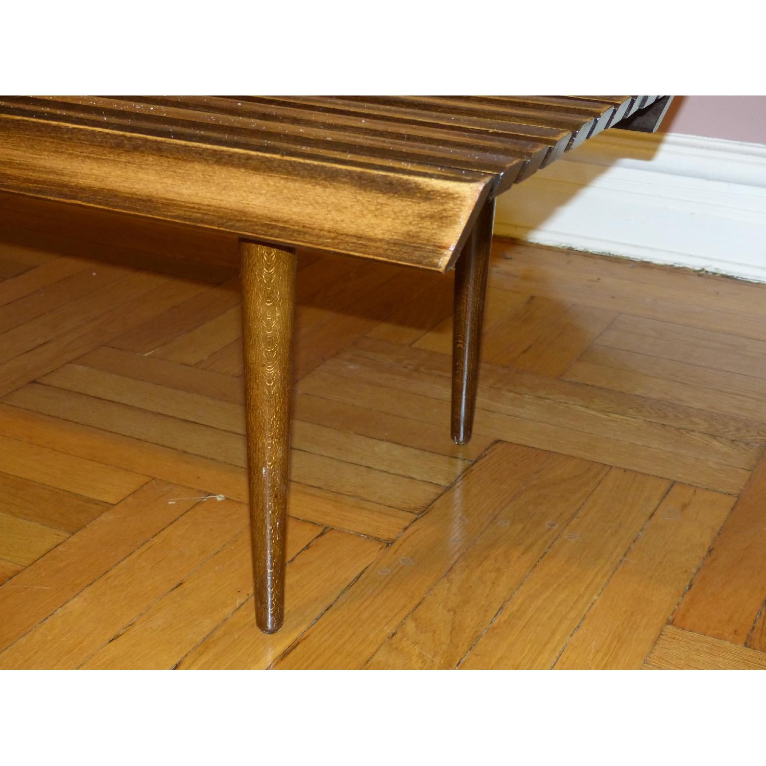 Mid-Century Danish Slat Coffee Table/Bench - image-4