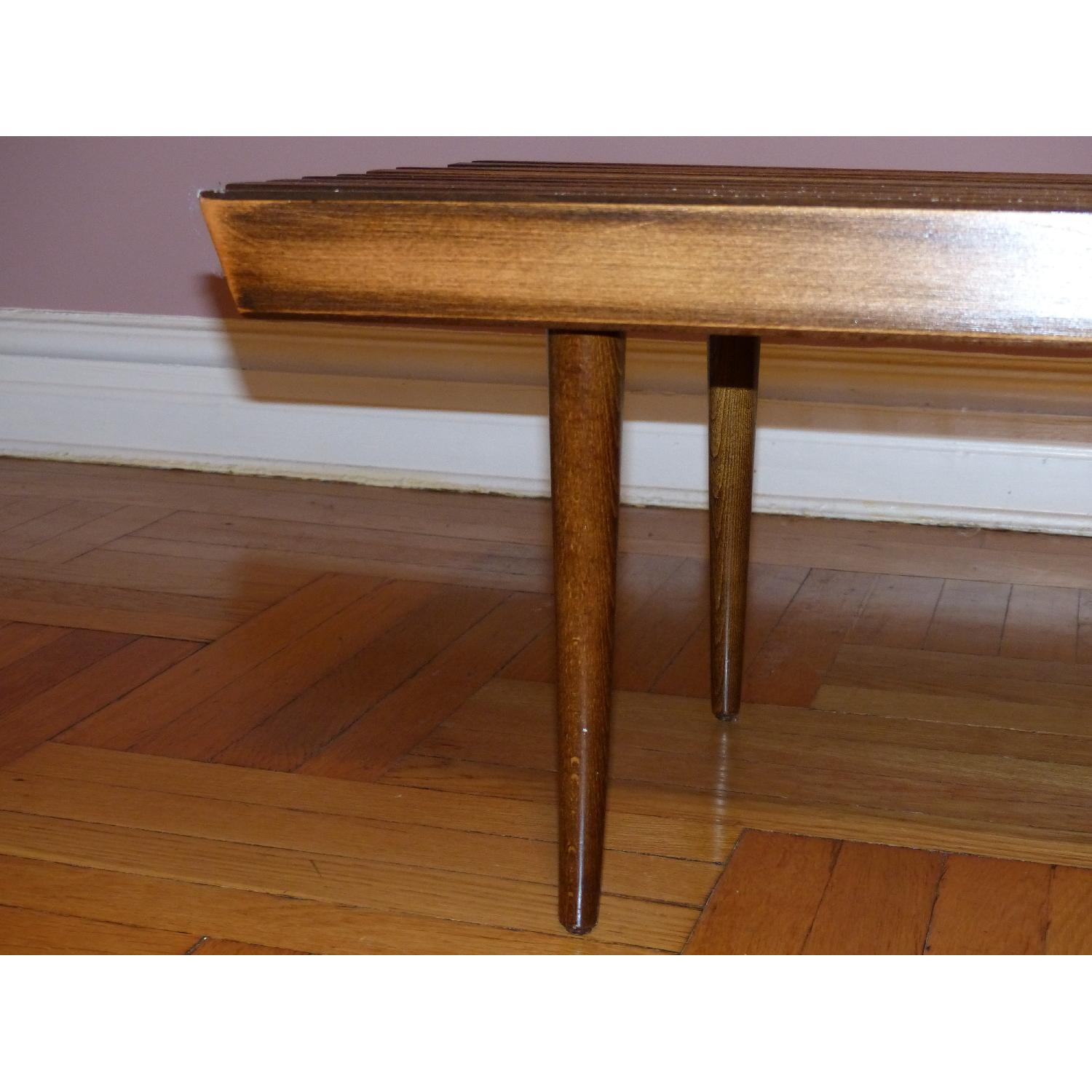 Mid-Century Danish Slat Coffee Table/Bench - image-5