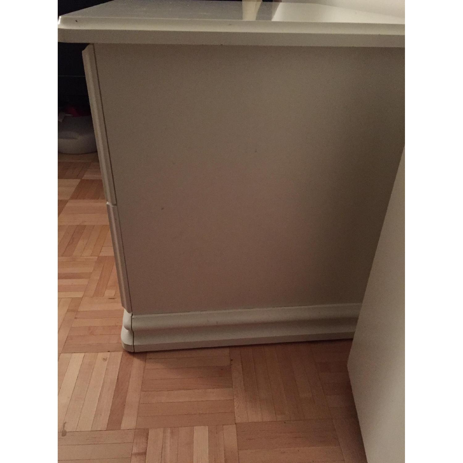 White Solid Wood Nightstand - image-2