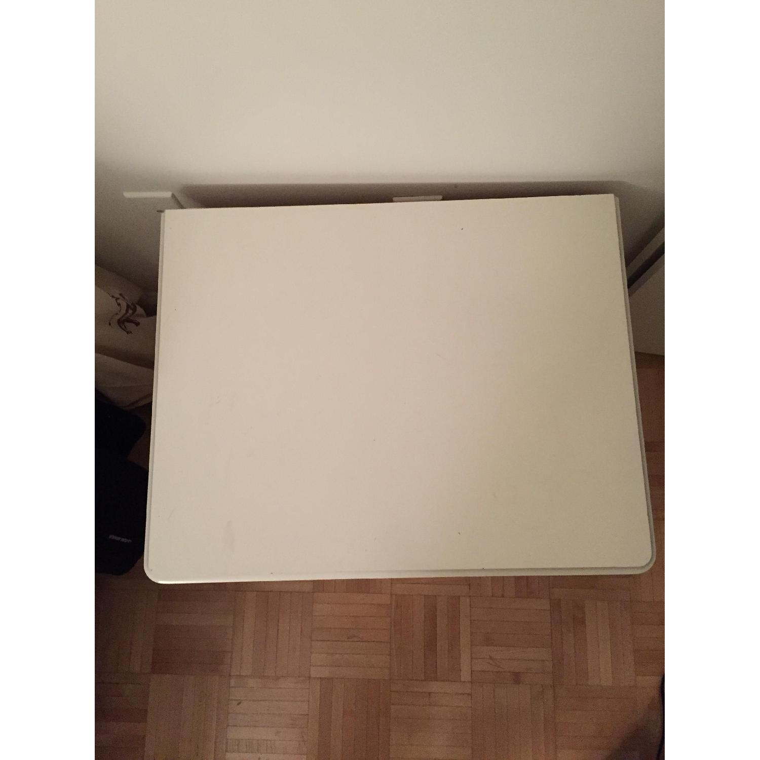 White Solid Wood Nightstand - image-5