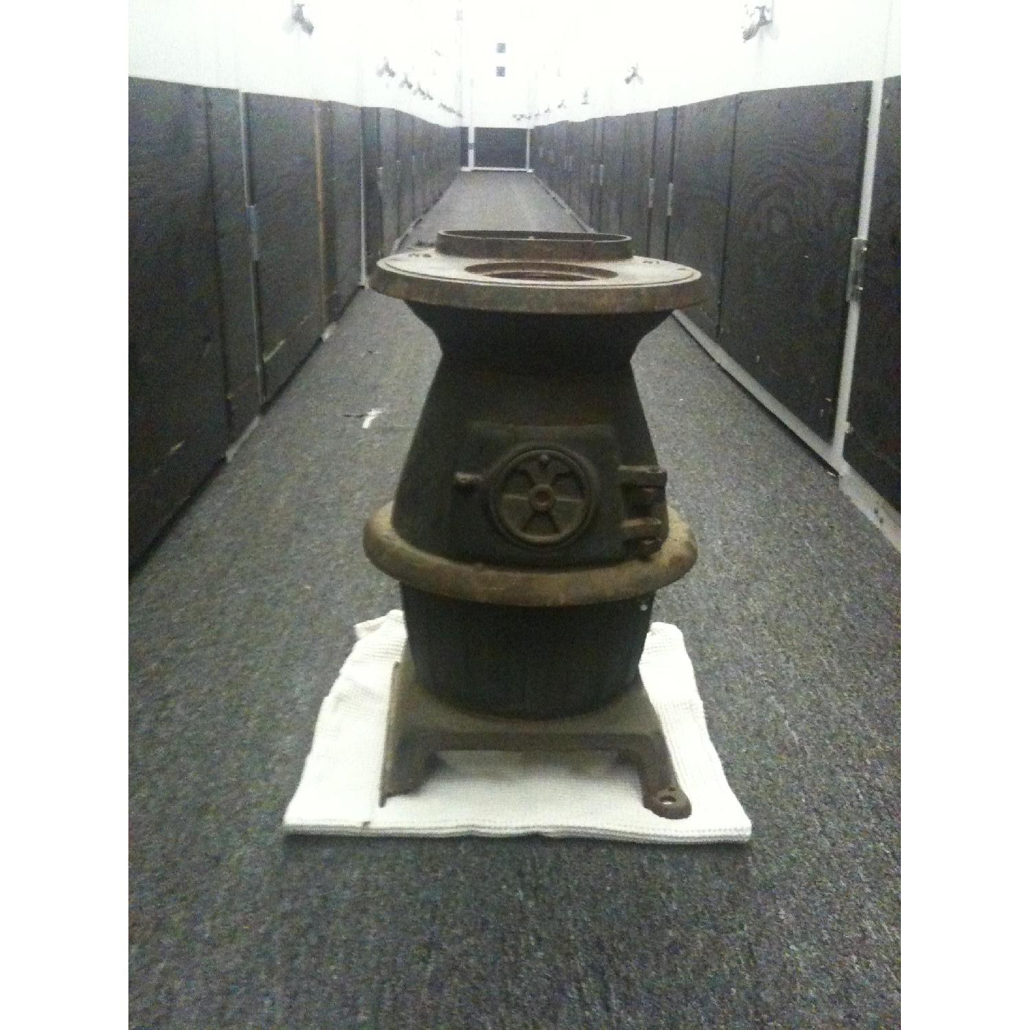 Rustic Vintage Potbelly Stove - image-1
