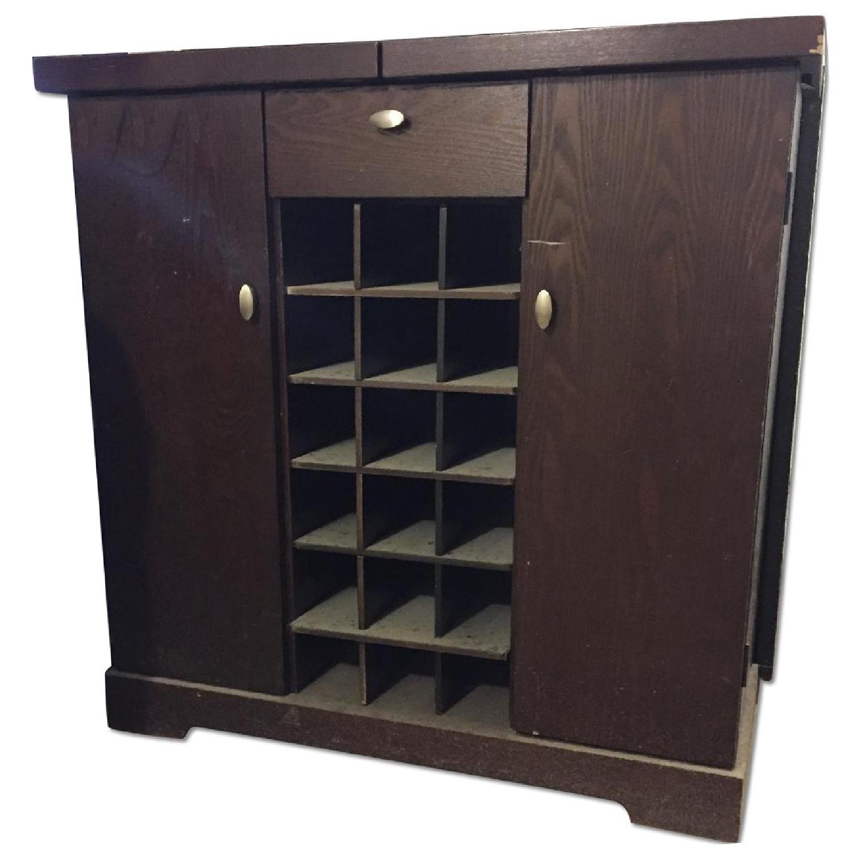 Crate & Barrel Credenza/Wine Bar - image-0