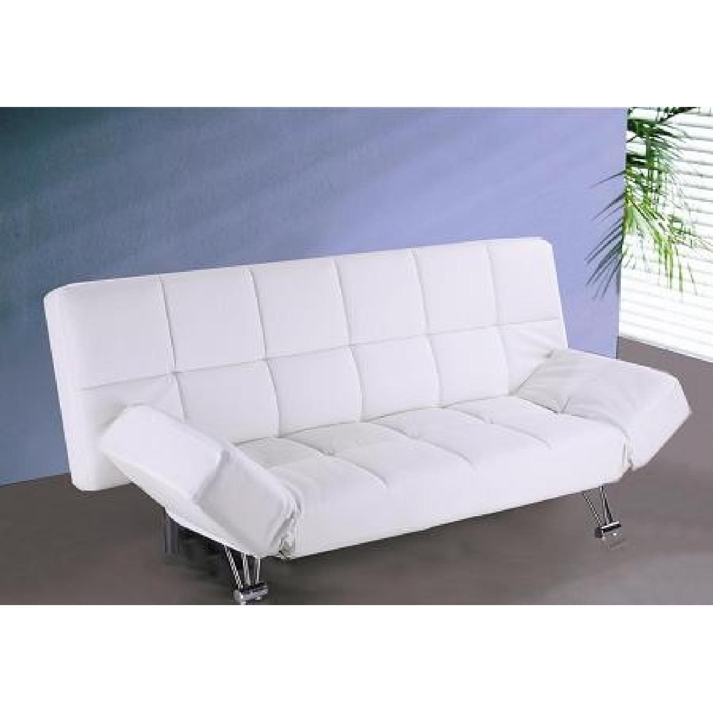 The Smart Sofa White Sleeper Sofa - image-1