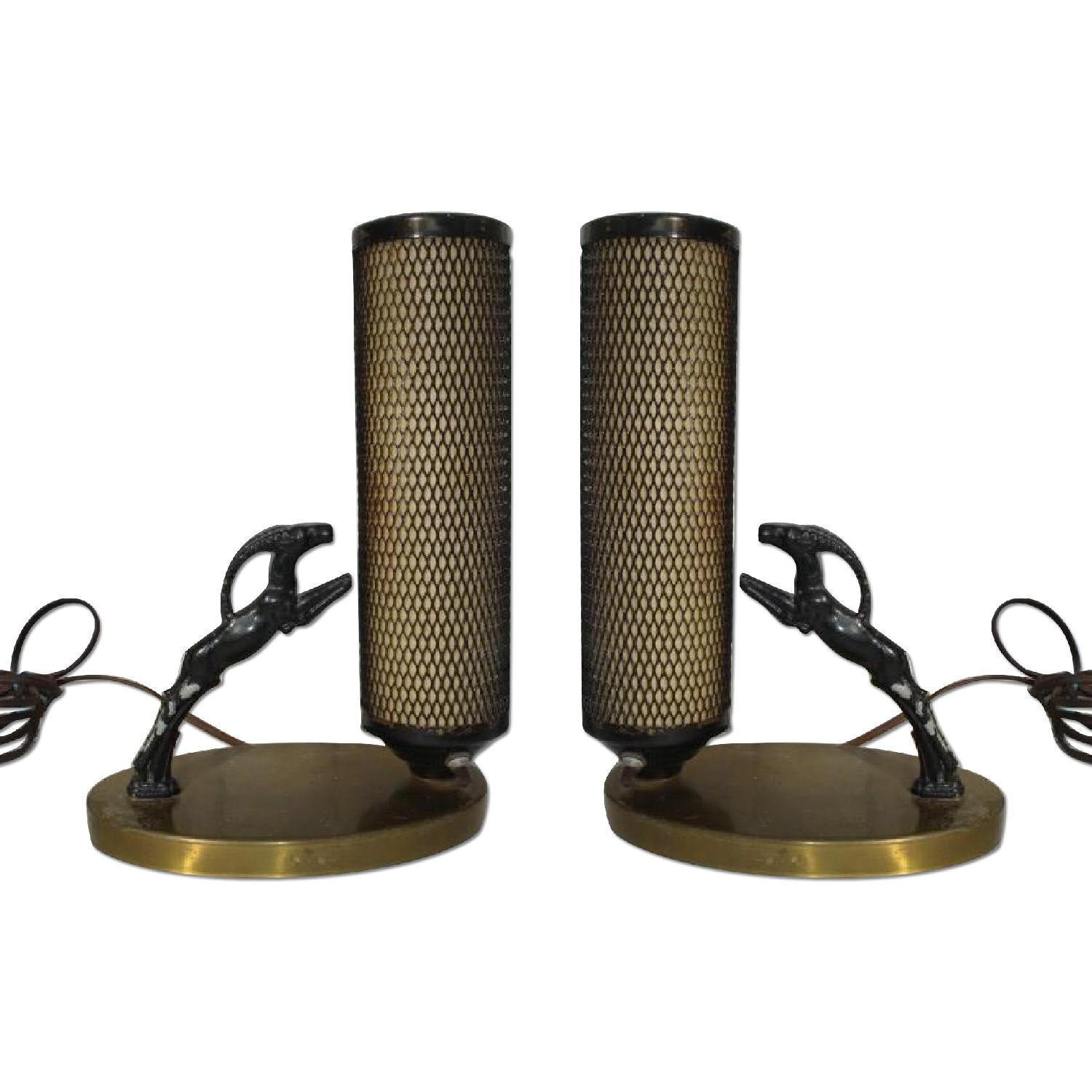 Art Deco Night Stand Lamps - Pair - image-0