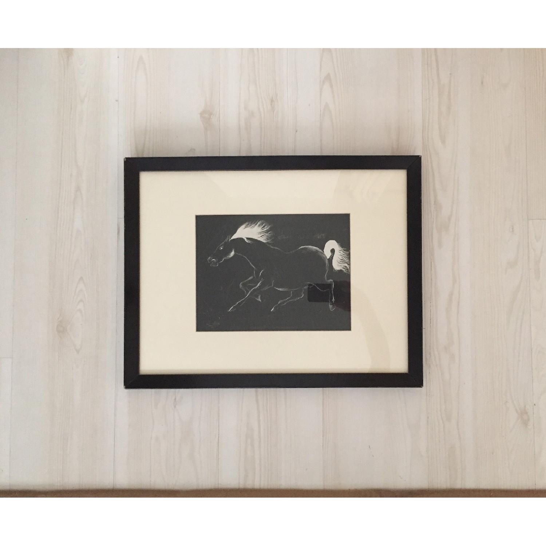 Charging Horse - Original Drawing - image-1