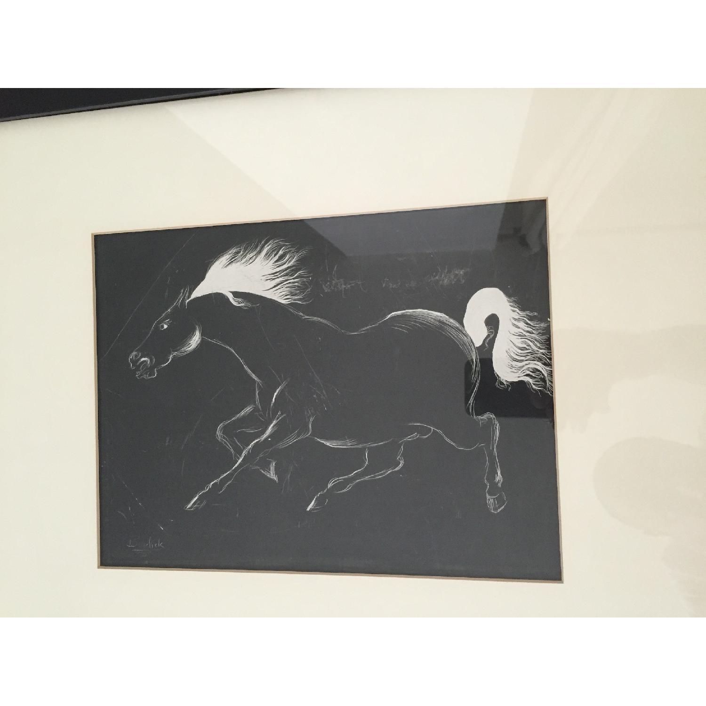 Charging Horse - Original Drawing - image-2