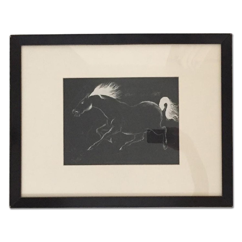 Charging Horse - Original Drawing - image-0