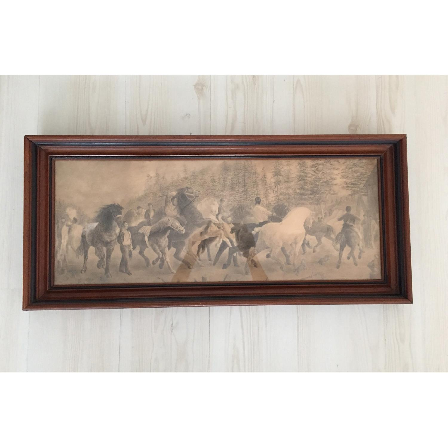 South American Hunting Scene Drawing - image-1