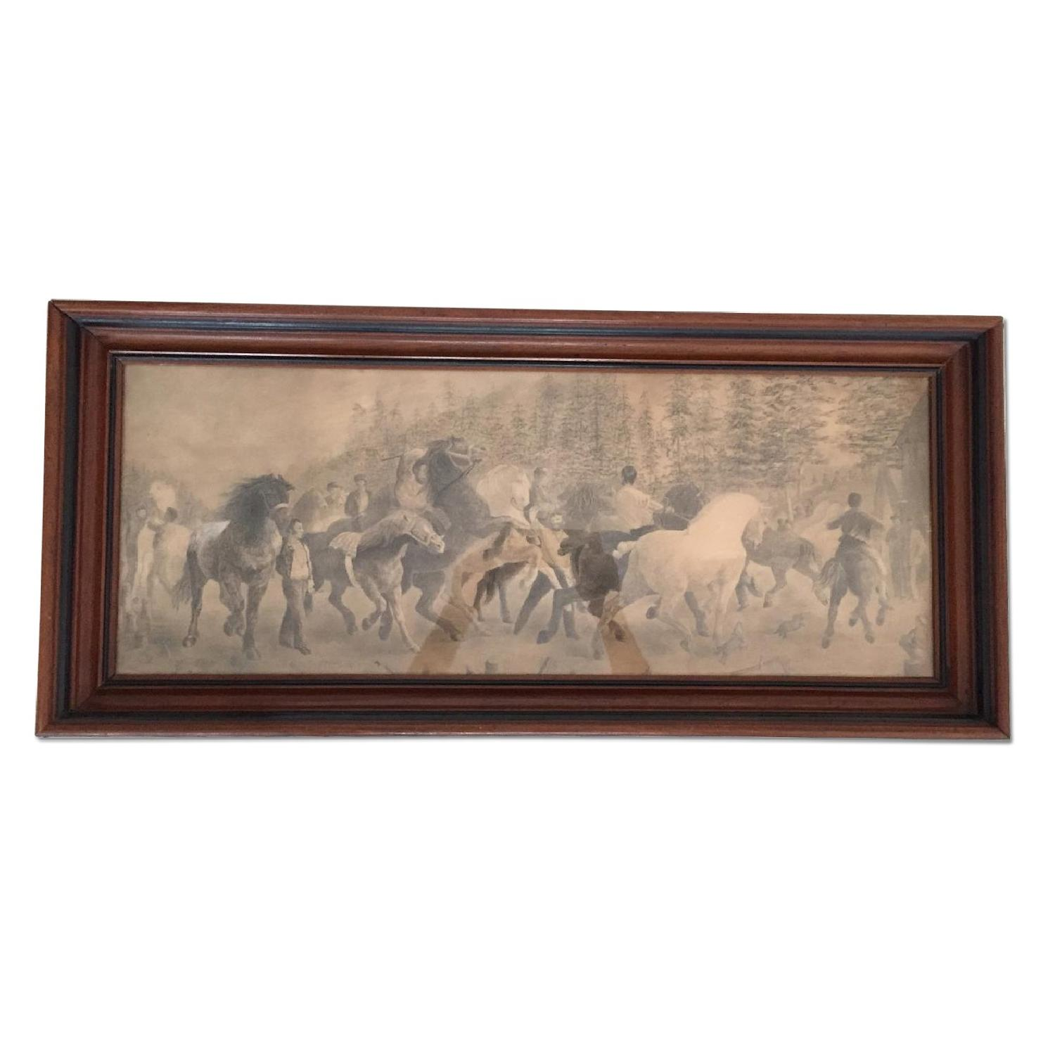 South American Hunting Scene Drawing - image-0
